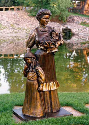 George Lundeen-Sorrel Sky Gallery-Sculpture-Tender Touch - Lifesize