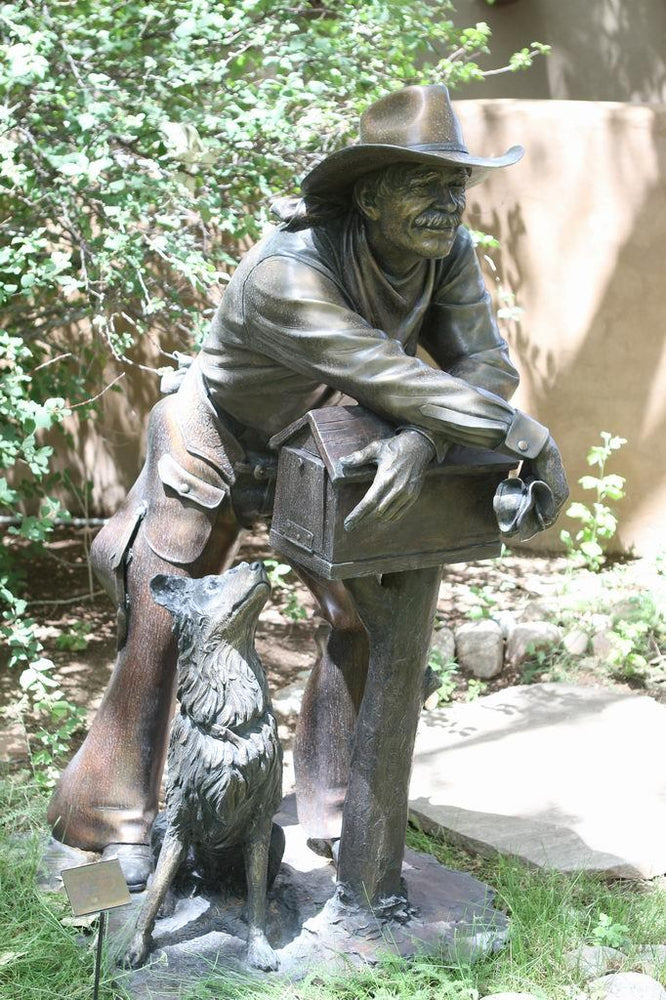 George Lundeen-Sorrel Sky Gallery-Sculpture-Waitin For An Answer Lifesize