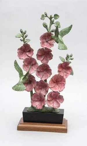 Gerald Balciar-Sorrel Sky Gallery-Sculpture-Hollyhock And Hummers