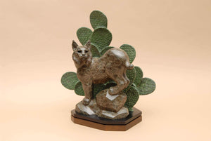 Gerald Balciar-Sorrel Sky Gallery-Sculpture-Sonoran Bobcat