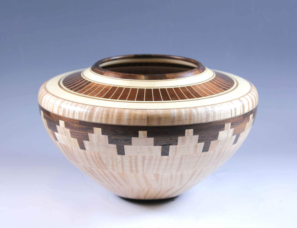 Glen Crandall-Sorrel Sky Gallery-Sculpture-Maple, Walnut and Holly Wood Turning