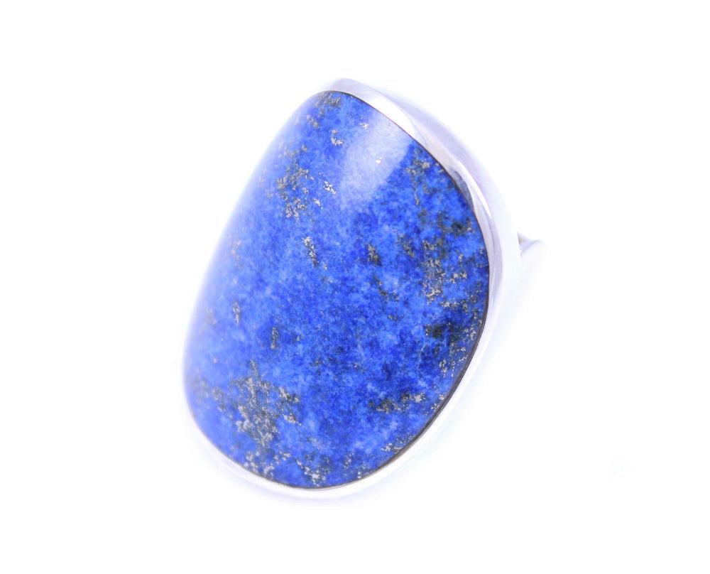 Denim Lapis Saddle Ring