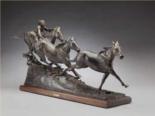 Greg Kelsey-Sorrel Sky Gallery-Sculpture-Horse Thief Canyon