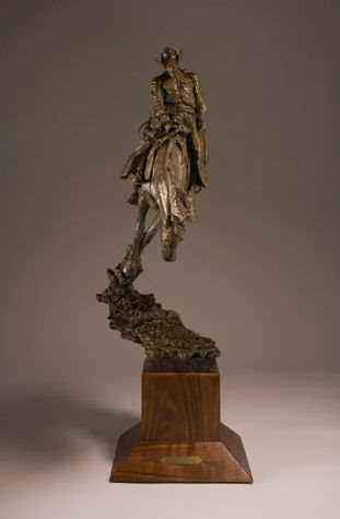 Greg Kelsey-Sorrel Sky Gallery-Sculpture-Tryin' To Collect A Buck