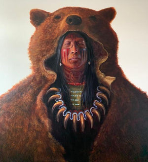 Blood Hand Bear-Painting-Greg Overton-Sorrel Sky Gallery