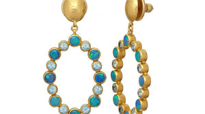 Amulet Hue Drop Earrings