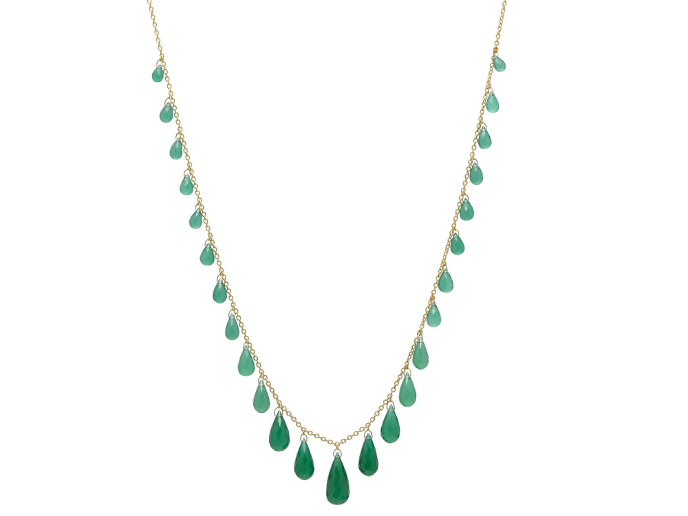 Green Onyx Delicate Dew Necklace