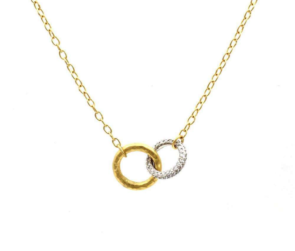 Interlocking Hoopla Pave Necklace