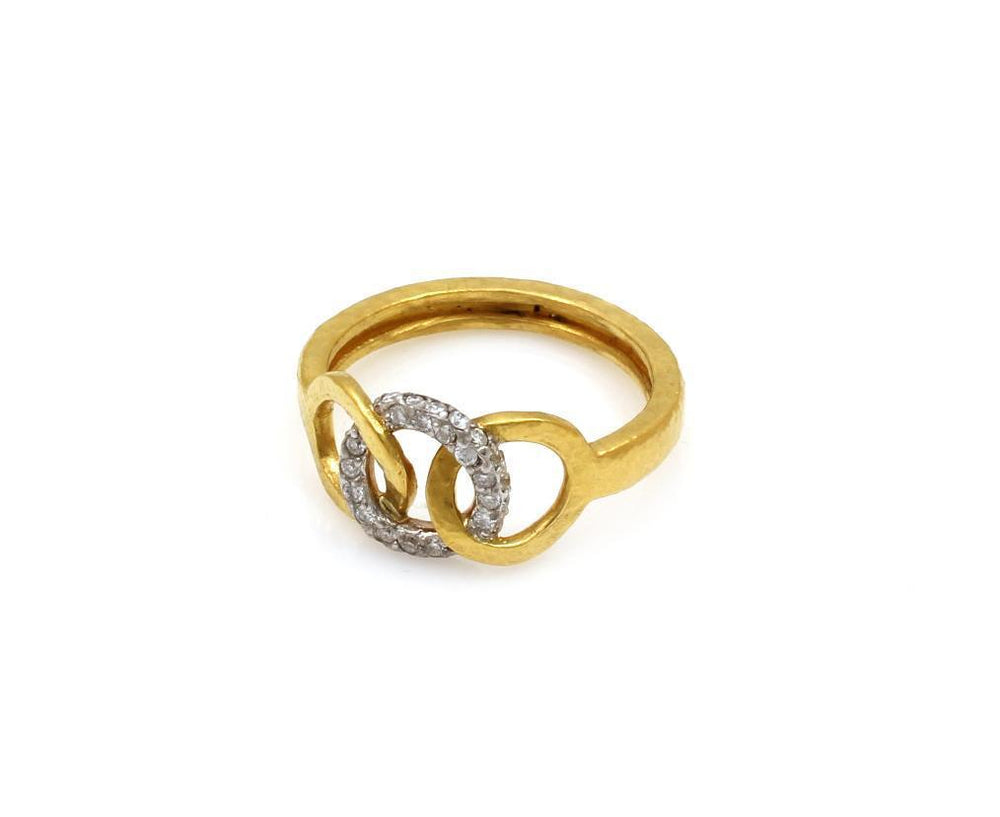 Interlocking Hoopla Pave Ring