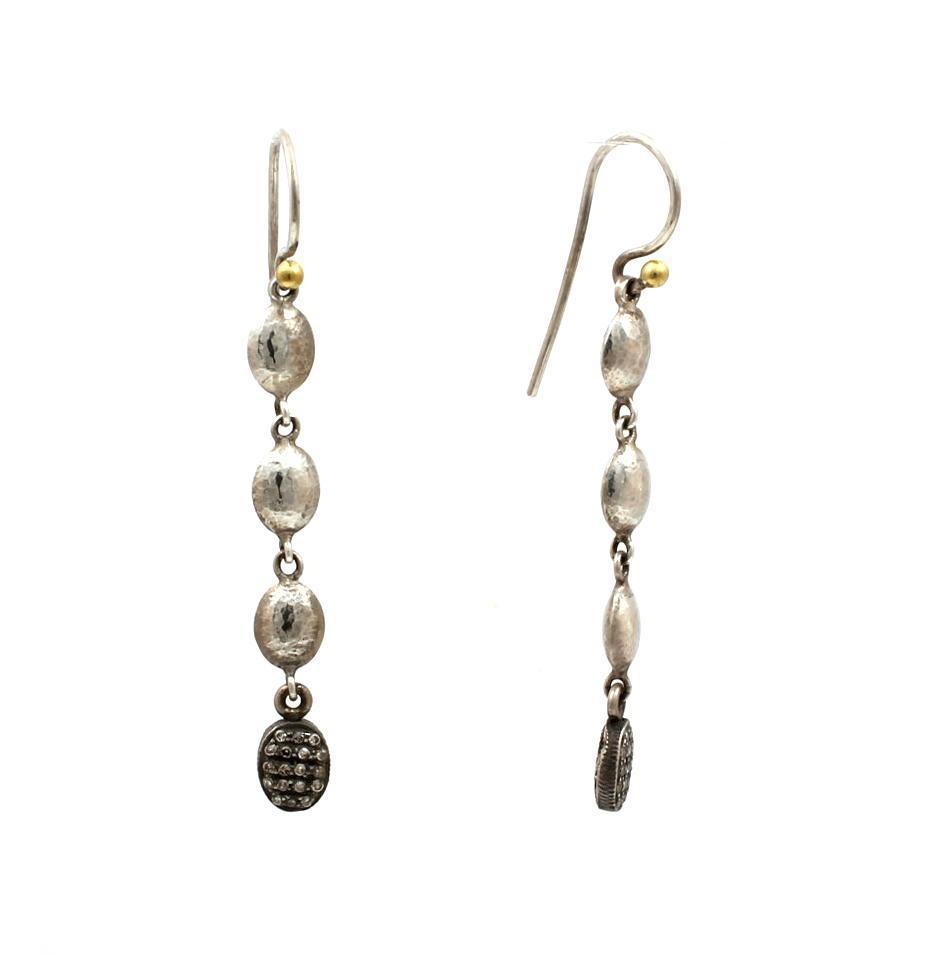 Long Jordan Pave Earrings