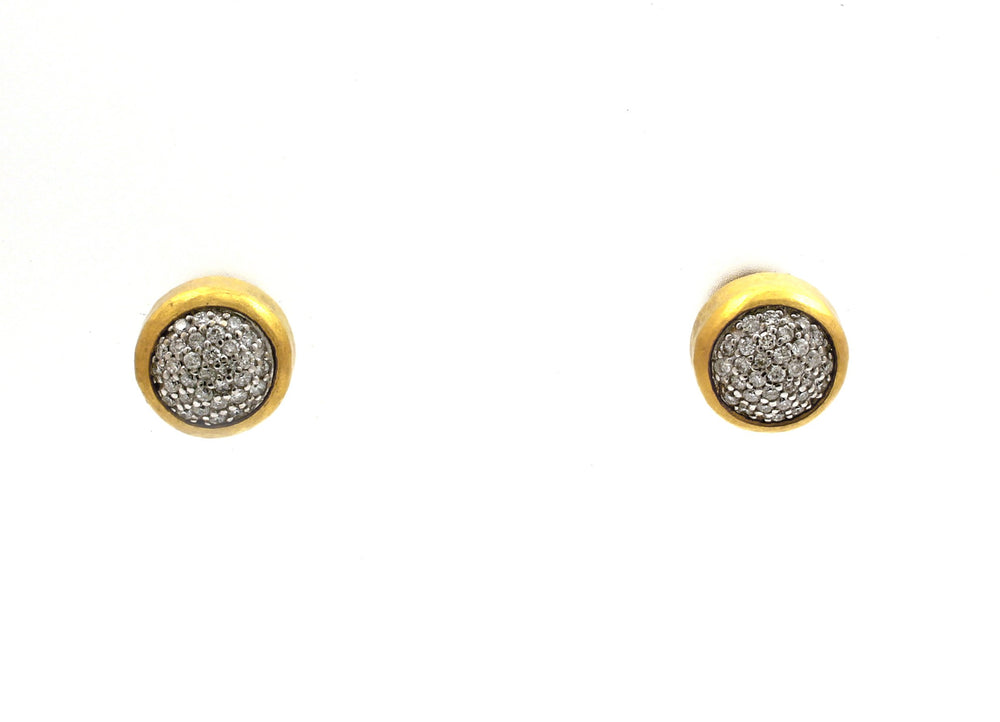 Medium Amulet Pave Stud Earrings