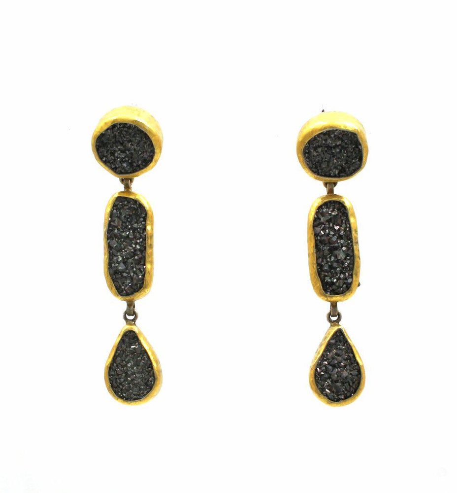 Mystere Triple Drop Earrings