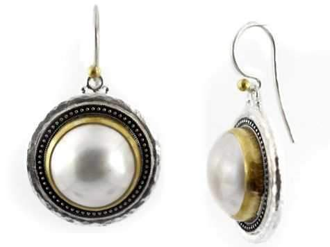 GURHAN-Pearl Gauntlet Earrings-Sorrel Sky Gallery-Jewelry