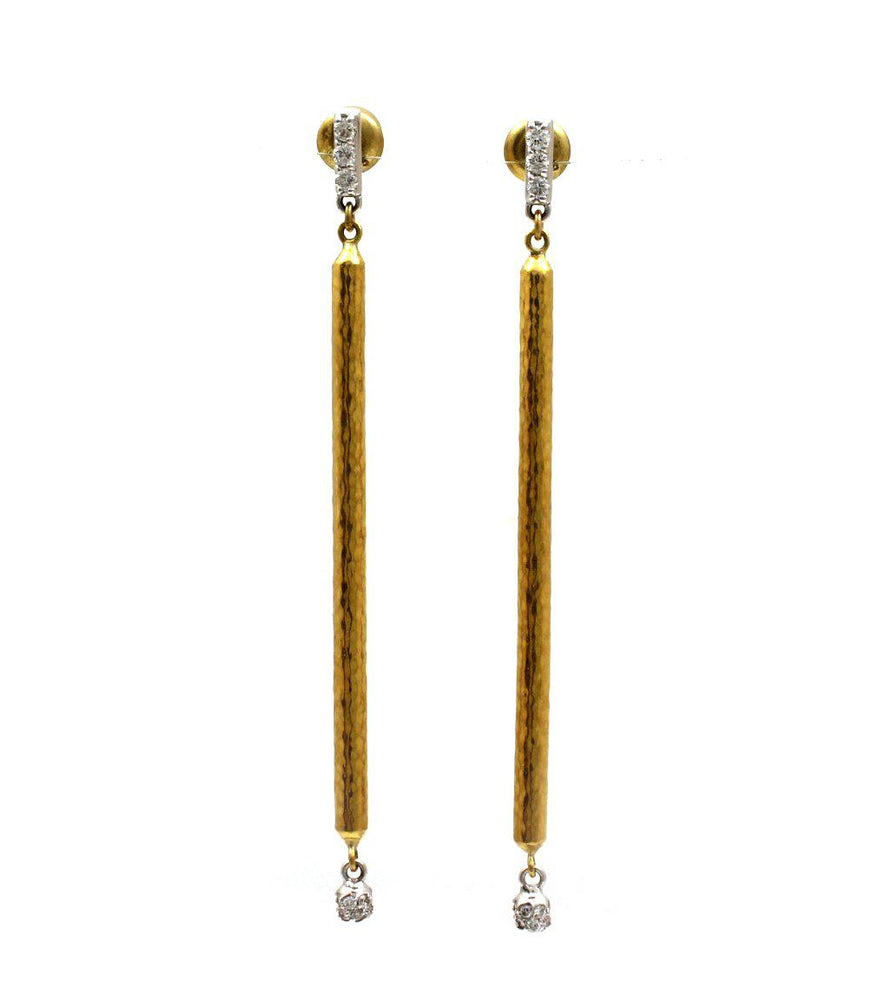 Vertigo Pave Drop Earrings