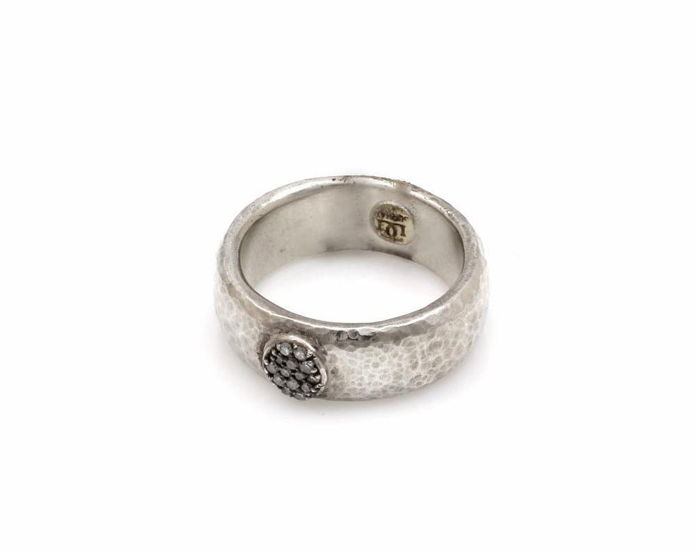 Wide Hoopla Pave Ring
