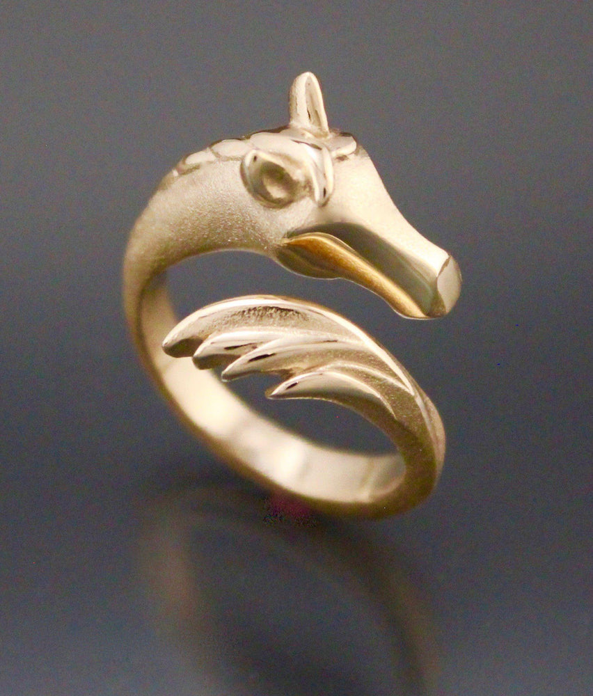 Horse Ring - 14k Gold or Bronze