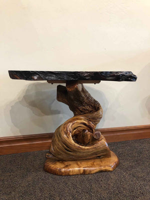 Redwood and Juniper End Table-Sculpture-Jerry Wedekind-Sorrel Sky Gallery