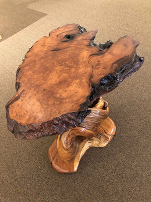 Redwood Juniper End Table-Sculpture-Jerry Wedekind-Sorrel Sky Gallery