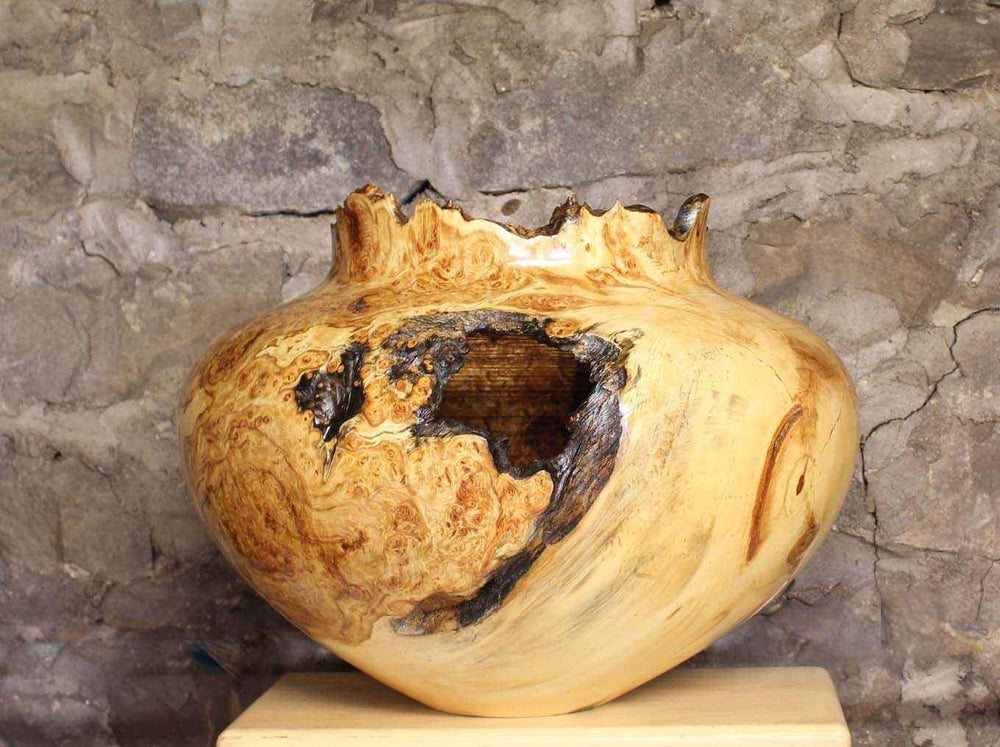 Jerry Wedekind-Sorrel Sky Gallery-Wood Turning-Aspen Burl Hollow Turning