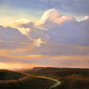 Jim Bagley-Sorrel Sky Gallery-Painting-Chama River Sunset