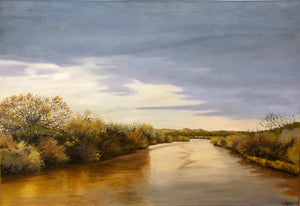 Jim Bagley-Sorrel Sky Gallery-Painting-Down On The Rio Grande