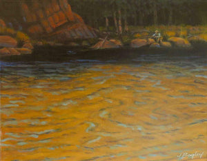 Jim Bagley-Sorrel Sky Gallery-Painting-Evening On The River