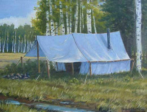 Jim Bagley-Sorrel Sky Gallery-Painting-Fall Camp