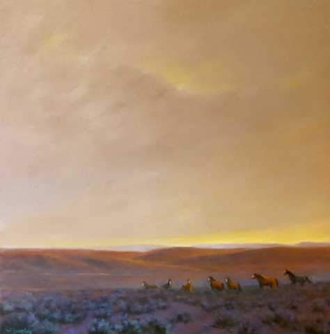 "Jim Bagley-Sorrel Sky Gallery-Painting-""One Last Look"""