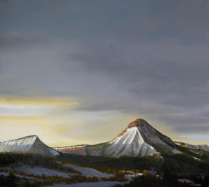 Perins Peak Sundown-Painting-Jim Bagley-Sorrel Sky Gallery