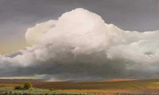 "Jim Bagley-Sorrel Sky Gallery-Painting-""San Luis Valley - Sangre De Cristo Mountains, Co."""