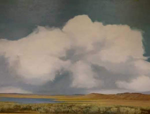 Jim Bagley-Sorrel Sky Gallery-Painting-Storm Over Big Lake
