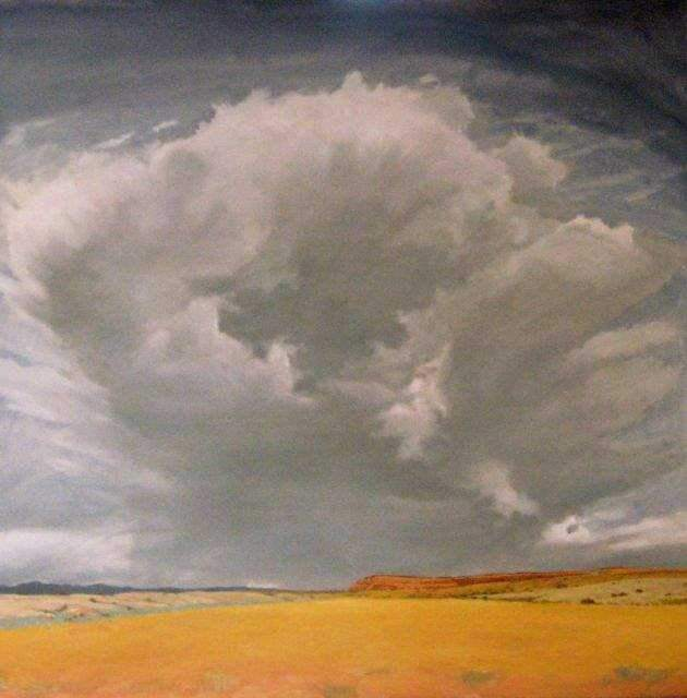 Jim Bagley-Sorrel Sky Gallery-Painting-Thunder Over Coyote Mesa