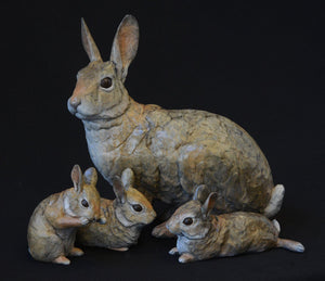 Rabbit Family Sculpture.