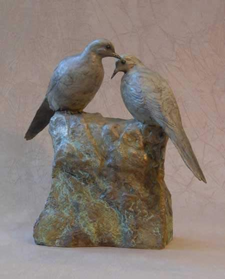 Jim Eppler-Mourning Doves II-Sorrel Sky Gallery-Sculpture