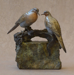 Jim Eppler-Mourning Doves III-Sorrel Sky Gallery-Sculpture