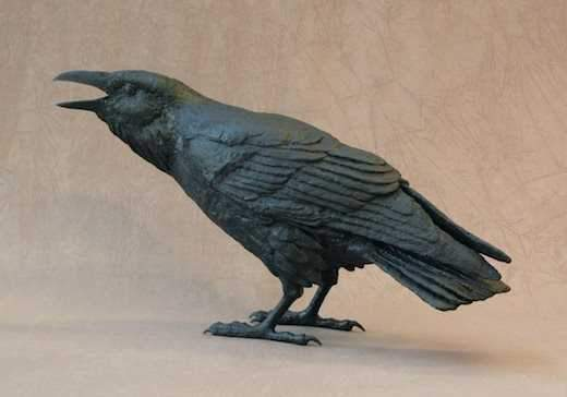 Jim Eppler-Raven XII C-Sorrel Sky Gallery-Sculpture