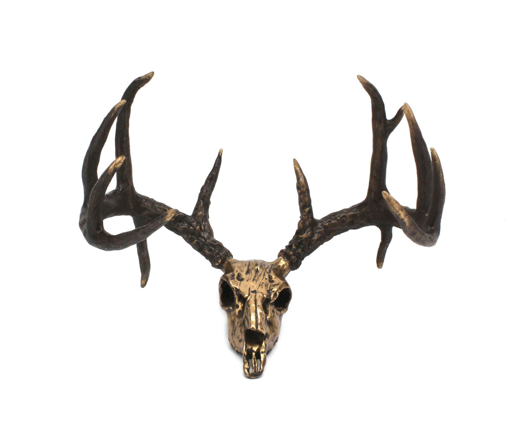 Jim Eppler-Whitetail Skull-Sorrel Sky Gallery-Sculpture