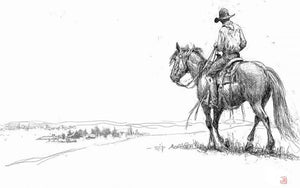 Jim Rey-Homeward Bound - Digital Sketch-Sorrel Sky Gallery-Print