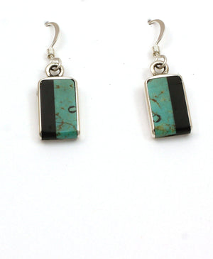 Inlay Rectangular Drop Earrings-Jewelry-Jimmy Poyer-Sorrel Sky Gallery