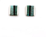 Inlay Rectangular Post Earrings