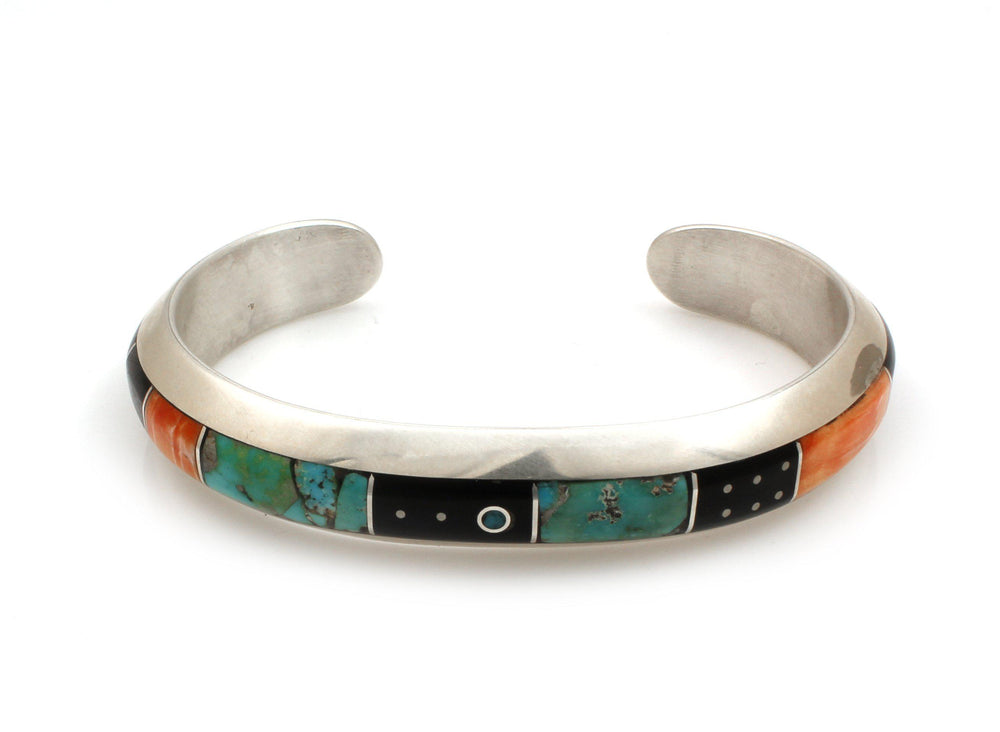 Narrow Inlay Cuff Bracelet