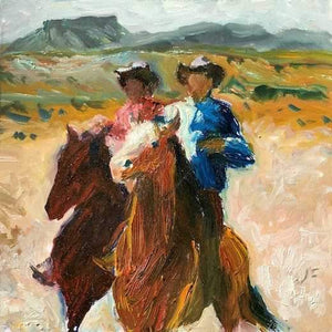 John Farnsworth-Sorrel Sky Gallery-Painting-Riders On The Range