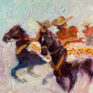 John Farnsworth-Sorrel Sky Gallery-Painting-Skirmish (Escaramuza)