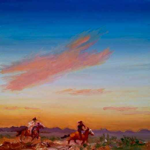 John Farnsworth-Sorrel Sky Gallery-Painting-The Chase Is On