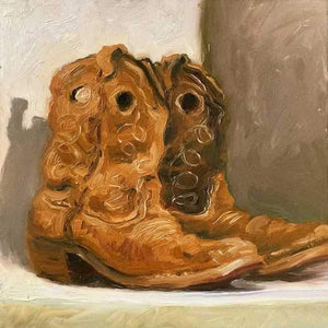 John Farnsworth-Sorrel Sky Gallery-Painting-The Kid's Boots