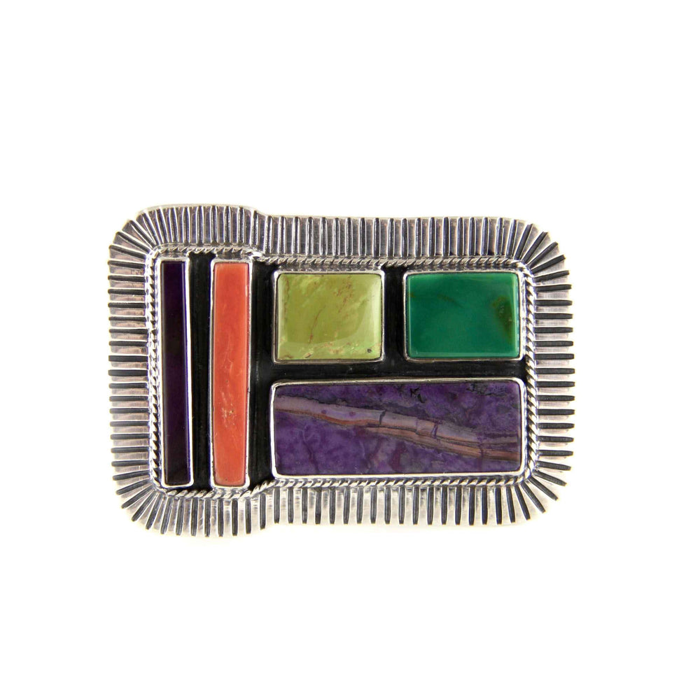 Kaizen-Sorrel Sky Gallery-Jewelry-Multi Stone Belt Buckle