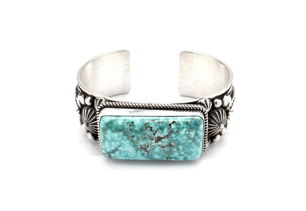 Single Stone Turquoise Mountain Cuff Bracelet