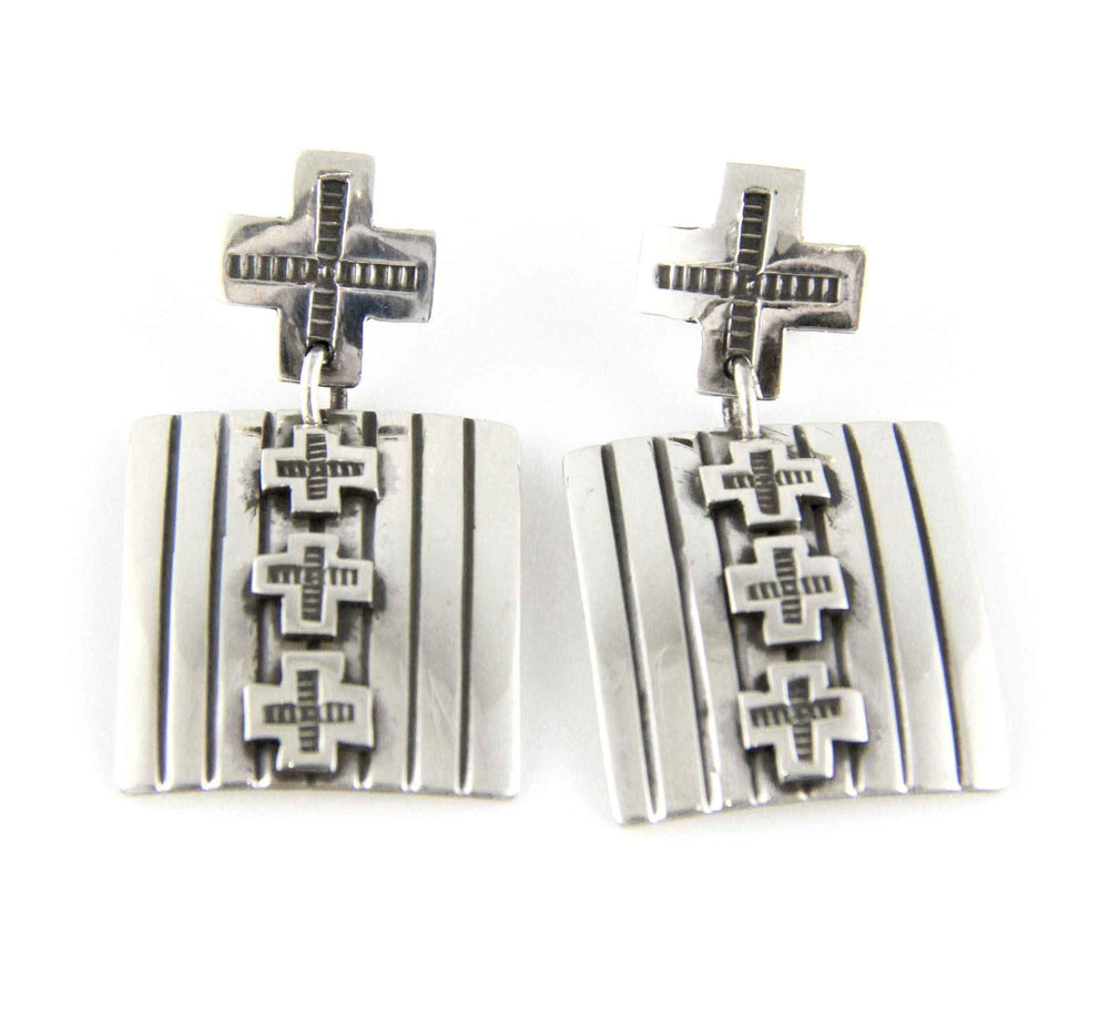 Spider Woman Cross Earrings