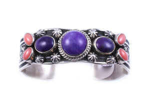 Kaizen-Sorrel Sky Gallery-Jewelry-Sugilite And Pink Coral Bracelet