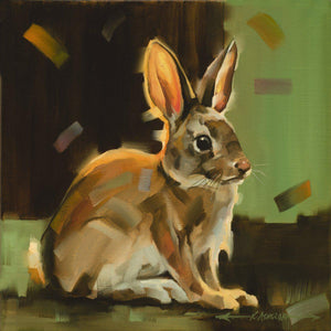 Cottontail Squared I-Painting-Kathryn Ashcroft-Sorrel Sky Gallery